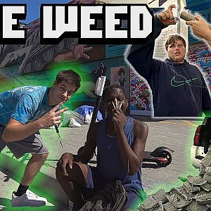 WE GAVE AWAY A POUND OF WEED IN CALIFORNIA - YouTube