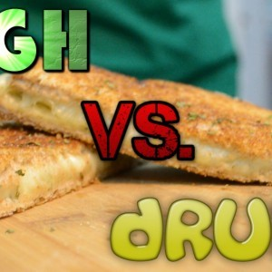 High vs. Drunk: Grilled Cheese - YouTube